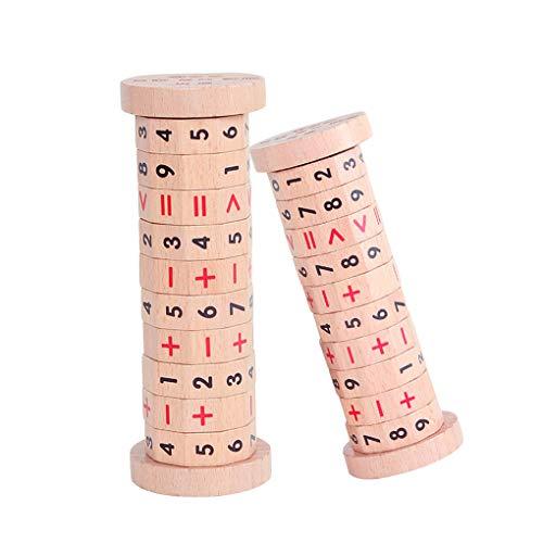 Beaums Wooden Kids Digitalzylinder Math Addition Subtraktionsberechnungsprozeß Trainingslernspielzeug Set Geschenk