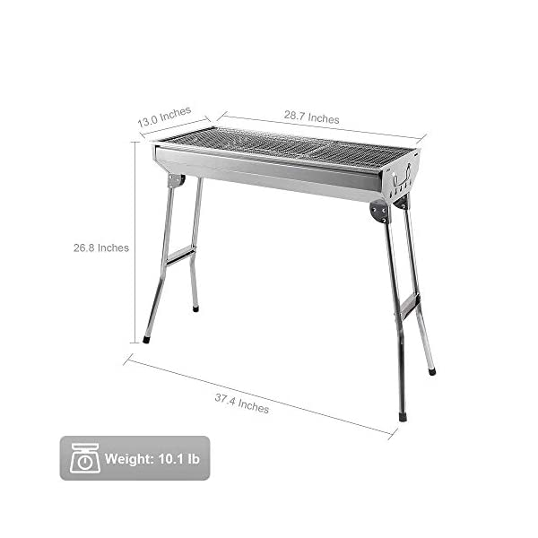 Uten Barbecue Grill Portable BBQ Charcoal Grill Smoker Grill for Outdoor Cooking Camping Hiking Picnics Backpacking 4