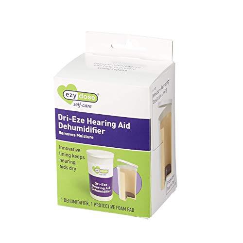 Ezy-Dose Deshumidificador de audífonos, contenedor pequeño ideal para casa o viaje, para una limpieza fácil y diaria, Clear (400587)