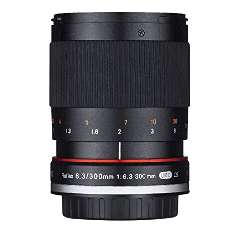 Rokinon 300M-M-BK 300mm F6.3 Mirror Lens for Canon M Mirrorless Interchangeable Lens Camera