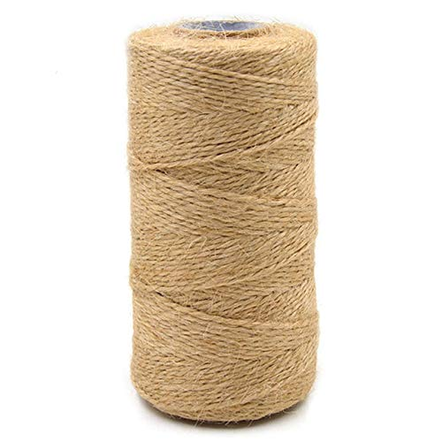Natural Jute Twine 393 feet Gift Craft and Art Packing String, Jute Rope for Gardening Festive Decoration