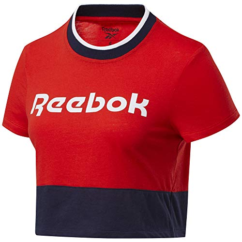 Reebok Te Linear Logo Crop Tee Maglietta, Donna, Inred, XL