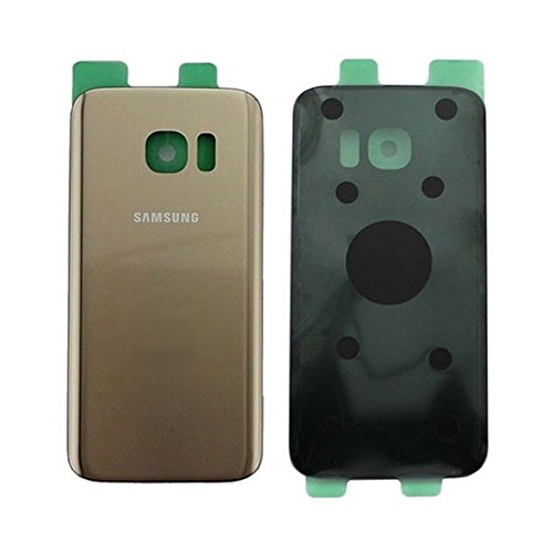 Todotumovil Tapa Trasera Cristal Trasero para Samsung Galaxy S7 G930 Dorada Back Cover