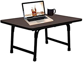 Prmaan Wooden Multipurpose Foldable Study/Reading/Lappi/Writing Desk/Portable Laptop Table (60 x 40 x 24.5 cm , Black/Brown)