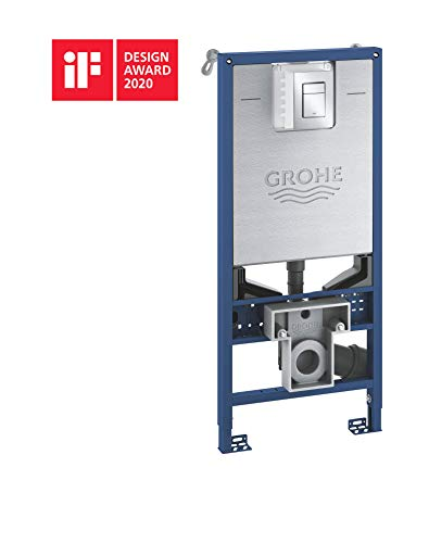 GROHE Rapid SLX | 3-in-1 Set für WC, 1, 13 M Bauhöhe mit Zubehör für Vorwandmontage + mit Abdeckplatte Skate Cosmopolitan S | 39603000