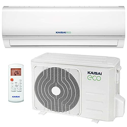 Kaisai ECO Split Klimaanlage 7,0 kW 24000 BTU, für bis zu 100 qm, WiFi Ready Invert Klimagerät Split, A++ Kühlen, A+ Heizen, inkl. MontageSet, Kältemittel R32, Fernbedienung