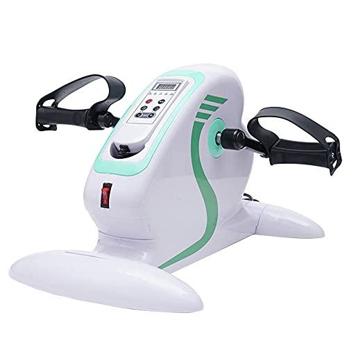OUYA Bicicleta Estática Eléctrica con Control Remoto Inteligente Home Stepper, Pantalla Electrónica para Entrenamiento De Piernas Y Brazos