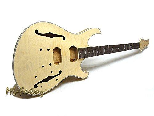 Guitarra Eléctrica/Guitar DIY Kit ML-Factory® PR- Semi II Hollowbody Flamed Top Custom...