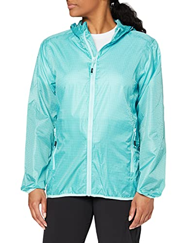 CMP Packpocket Rain Jacket Chaqueta, Mujer, Curacao-Anise, 44