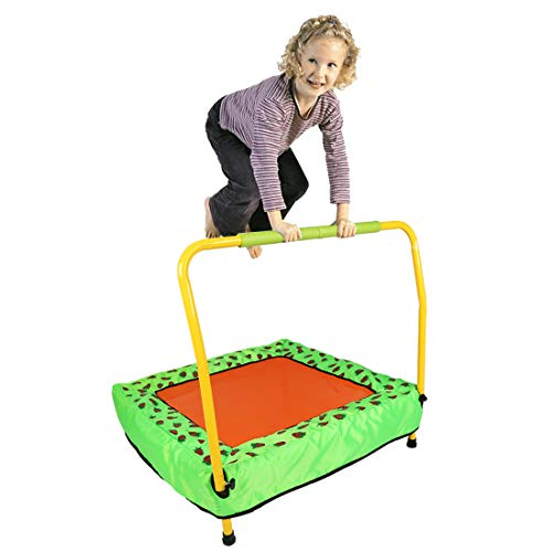 Jack's household 85cm Children Small Square Trampoline Exercise with Handle indoor outdoor