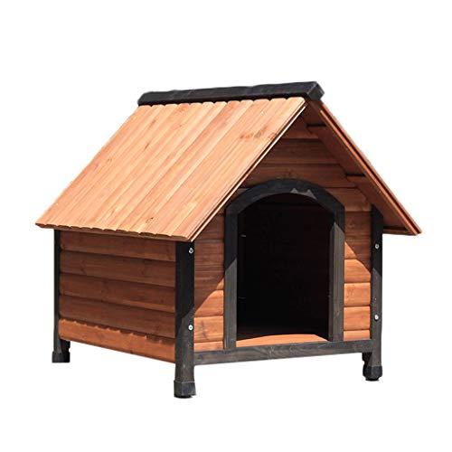 Corrales de exterior Al Aire Libre Casa De Perro De Madera D