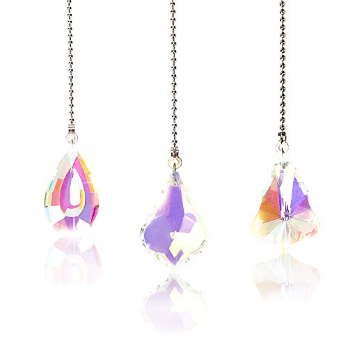 Herefun Kristall Prisma Anhänger, Kristall Sonnenfänger Garten, Kristall Sonnenfänger zum Fenster Aufhängen Groß Hängende für Dekoration (50mm)