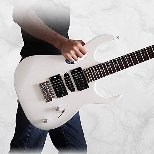 Miiliedy Rock Roll Blues Heavy Metal Música popular Guitarra eléctrica 24 trastes Práctica para principiantes Rendimiento profesional Guitarra electrónica con Big Bag Correa de guitarra Pulido de tela