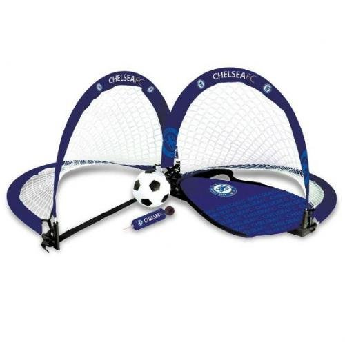 Official Chelsea FC Skill Goal Set - A Great Gift / Present For Men, Boys, Sons, Husbands, Dads, Boyfriends For Christmas, Birthdays, Fathers Day, Valentines Day, Anniversaries Or Just As A Treat For Any Avid Football Fan by footballsouvenirs