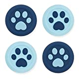 GeekShare Cat Claw Playstation 4 Controller Thumb Grips-Silicone Joystick Button Caps-Analog Thumbsticks Cover Set Compatible with Switch Pro and PS4 PS5 Controller-2 Pair/4 Pcs (Star Mist Blue)