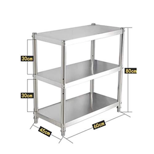 Kitchen furniture - Support de rangement à 3 couches en acier inoxydable pour support de four à micro-ondes multifonctions WXP (taille : 60X45CM)