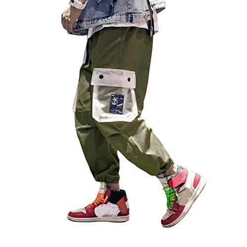 Irypulse Pantaloni Cargo Uomo, Pantaloni Sport Casuali Moda da Strada Urbana per Adolescenti e Giovani Ragazzi, Pantaloni Mimetici Sciolto Stile Hip Hop Contrasto Colore - Design Originale