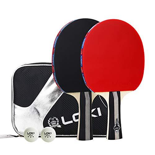 Tischtennisschläger-Set-Portable-Tischtennis-Set, darunter 2 Tischtennisbälle, 2 Tischtennisschläger, 1 Aufbewahrungstasche für die Innen- und Außenspiele