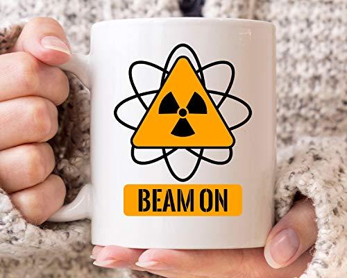 Beam on Mug Lustige Radiologie-Kaffeetasse für Radiologen und Ray Technician Cute Rad Tech Geschenkidee für Männer und Frauen Radiologen Tasse 313 ml Keramik Kaffeetasse