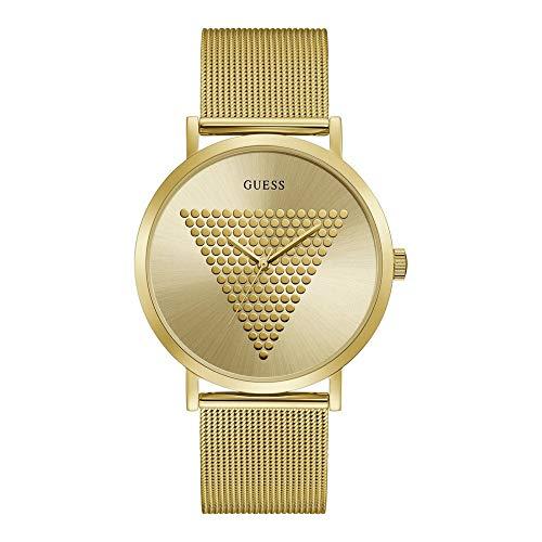 Guess Imprint - Armbanduhr - Herrenuhr - Quarzuhr - Edelstahl - goldfarben - poliert