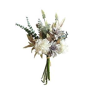 Silk Flower Arrangements Superper 1Bouquet Artificial Silk Cloth Flower Plant Shrubs Plants Home Office Ornament Wedding Party Decor White Blue