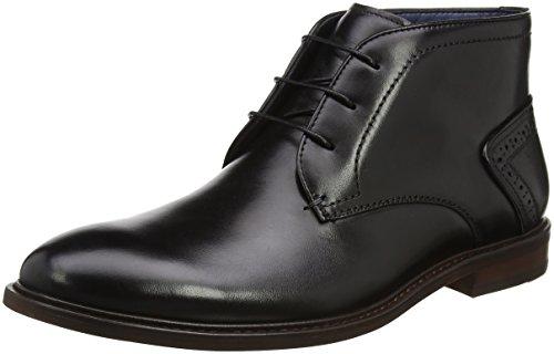 Steve Madden Footwear Bowen Lace Up, Zapatos de Cordones Derby para Hombre, Negro (Black), 40 EU
