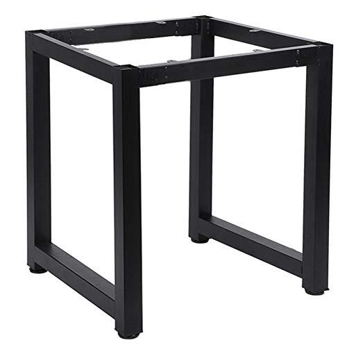 Almofada de borracha anti-arranhões para pés ajustável Estrutura de aço Mesa de suporte Mesa perna escritório doméstico(black)
