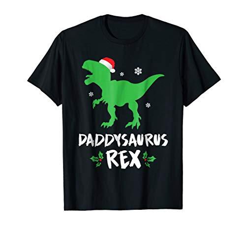 Mens Daddy T Rex Matching Family Christmas Dinosaur Shirt