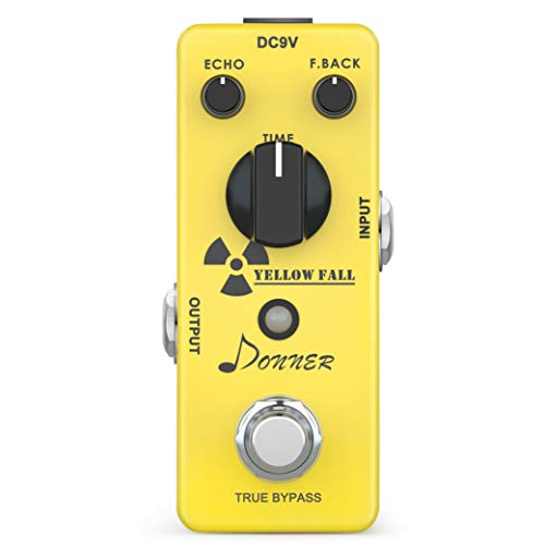 Donner Yellow Fall ディレイ エフェクター ギターペダル ピュアなアナグロ トゥルーバイパス (黄) [並行輸入品]