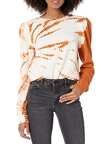The Drop Women's Jean Puff-Sleeve Fleece Sweatshirt