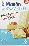 BiManán beKOMPLETT - Barritas Sabor Cheesecake con Fresa - Caja de 6 unidades - fuente de...