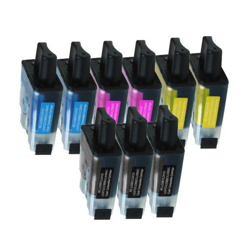 9 Druckerpatronen Tinte für Brother DCP 110C DCP 115C DCP 120C MFC 210C MFC 215C ersetzen LC-900