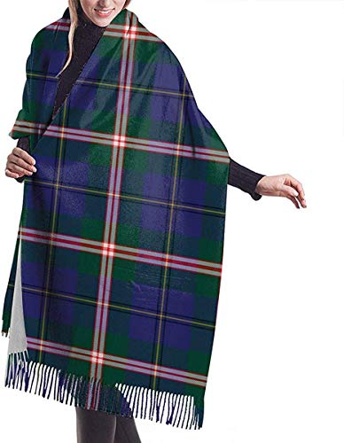 Hoswee Damen Winterschal,Schals Nackenwärmer Winter Warm Wrap Shawl Cornwall (Cornish National) Tartan Print Scarves Blanket Schals For Damen Men