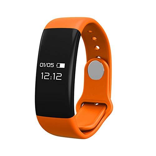 Qiy Smart Armband/Uhr H30 Fitness Tracker GPS Wasserdicht Activity Tracker Pulsmesser Kompatibel iPhone Android Handys Uhren Schritt Tracker,Orange