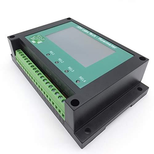 Medidor de flujo Contador de litros Totalizador con 4 alarmas programables y restablecimiento de entrada + sensor de flujo para tuberías de 2' pulgadas (DN50)