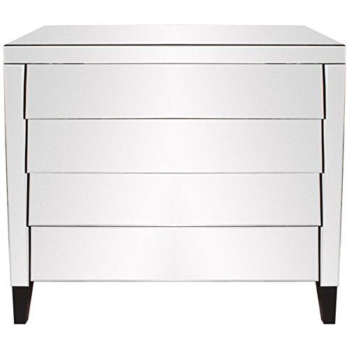 Howard Elliott Mirrored Dresser, 4-Drawer