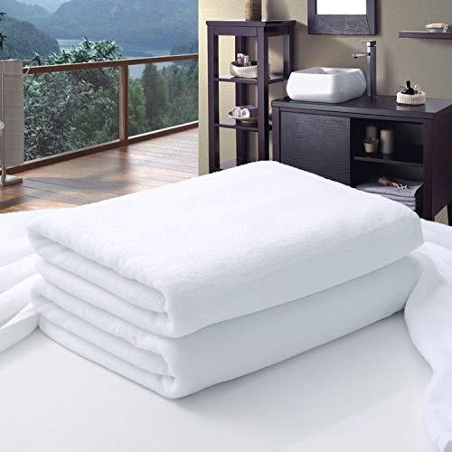 home + Toallas de baño Hotel Grande Blanca De Algodón Toalla De Baño For Los Adultos SPA Sauna Salón De Belleza Toallas De Baño Toalla De Playa Colcha 4 Tamaños (Size : 100X200CM 1000g)