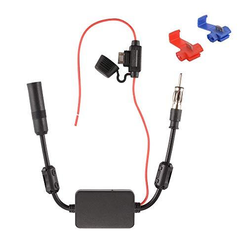 Amplificatore del Segnale Radio dell Antenna Auto AM FM dell Automobile Aereo dell ANNEM per l autoradio di DAB Booster 12V Universali