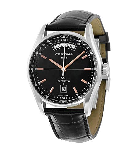 Certina DS 1 Automatic Day Date Black Dial...