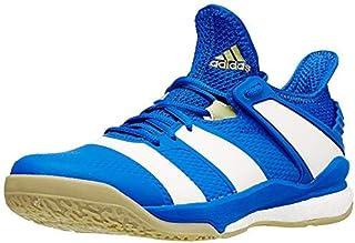 adidas Men's Stabil X Volleyball Shoe, Blue/Off White/Gold Metallic