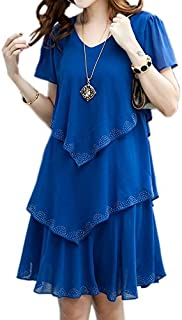 HeBei Summer Dress Women Blue Party Dresses Plus Size Women Clothing Vestidos Robe Femme Sexy Chiffon Dress Diamond Blue S