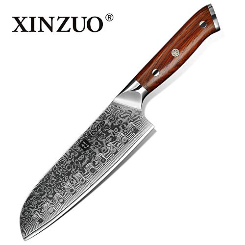 Best Quality Kitchen Knives 7 inch Japanese Chef Knife Chinese Damascus Stainless Steel Kitchen Knife Professional Knives Rosewood Handle