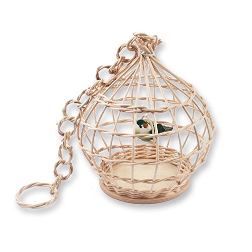 Zita's Creative Bastelset - Großer Vogelkäfig, Flechten, Korbflechten, Schilf Set, Peddigrohr, Flechtmaterial, Flechtset, Rattan