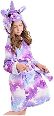 Doctor Unicorn Soft Unicorn Hooded Bathrobe Sleepwear Unicorn Gifts for Girls Purple 7 9 Years product image