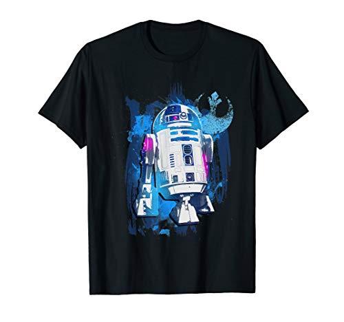 Star Wars R2-D2 Rebellion Logo Paint Splatter T-Shirt