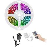Tira de LED 5m, Tira de LED que cambia de color con control remoto IR, Tiras de LED RGB 5050, para iluminación y artículos decorativos en el hogar, fiesta, cocina, bar ..