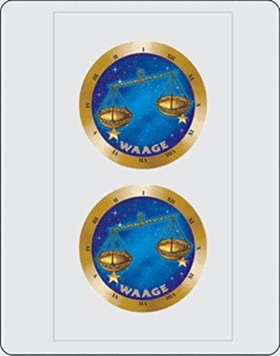 Aufkleber Sternkreiszeichen Waage Dimension 2er-Set je Ø 40 mm ~~~~~ schneller Versand innerhalb 24 Stunden ~~~~~