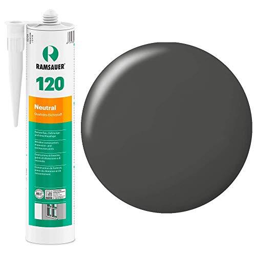Ramsauer 120 Neutral 1K Silikon Dichtstoff 310ml Kartusche (Anthrazit)