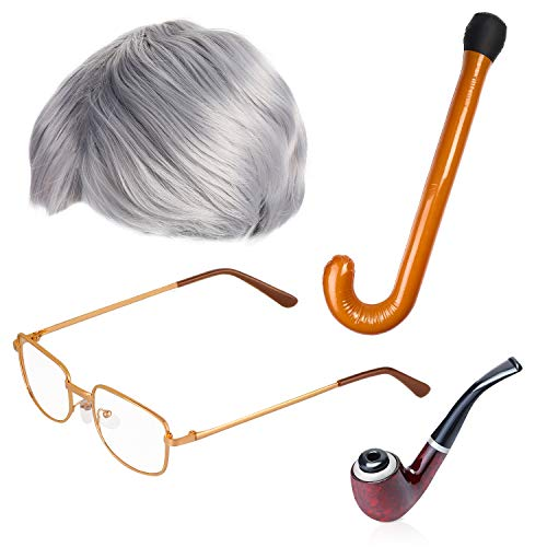 Beefunny Old Man Fancy Dress Accessory Set Grandpa Costume Accessories...