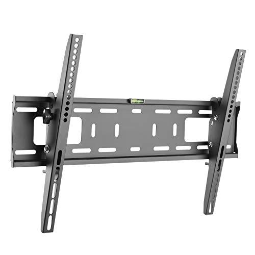 RICOO N2364, TV Wand-Halterung Neigbar, Flach, Fix, Universal 37-70 Zoll (94-178cm), TV-Halterung, Curved LCD LED Fernseher, VESA 600x400, Schwarz